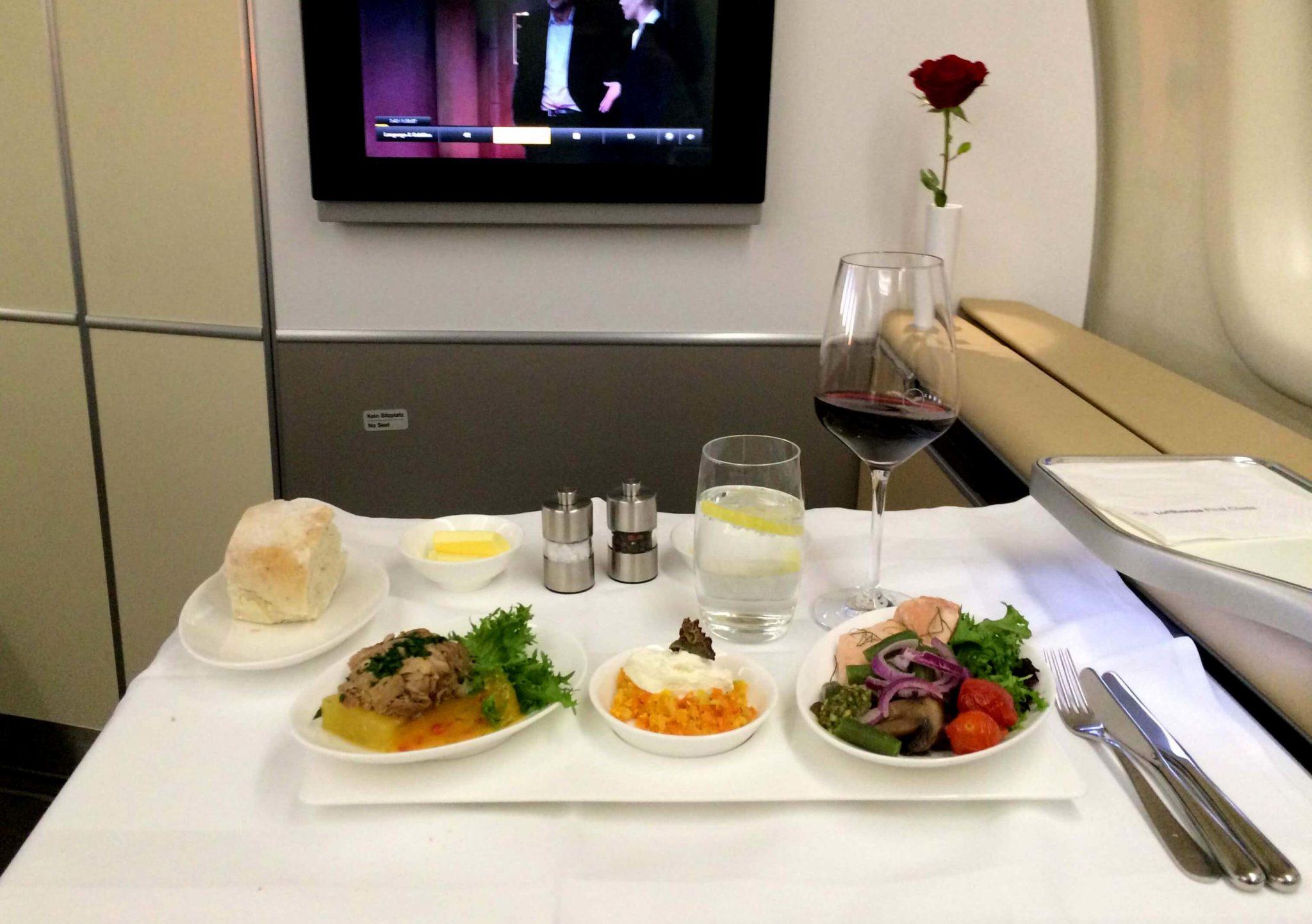 Entrantes, Lufthansa first class