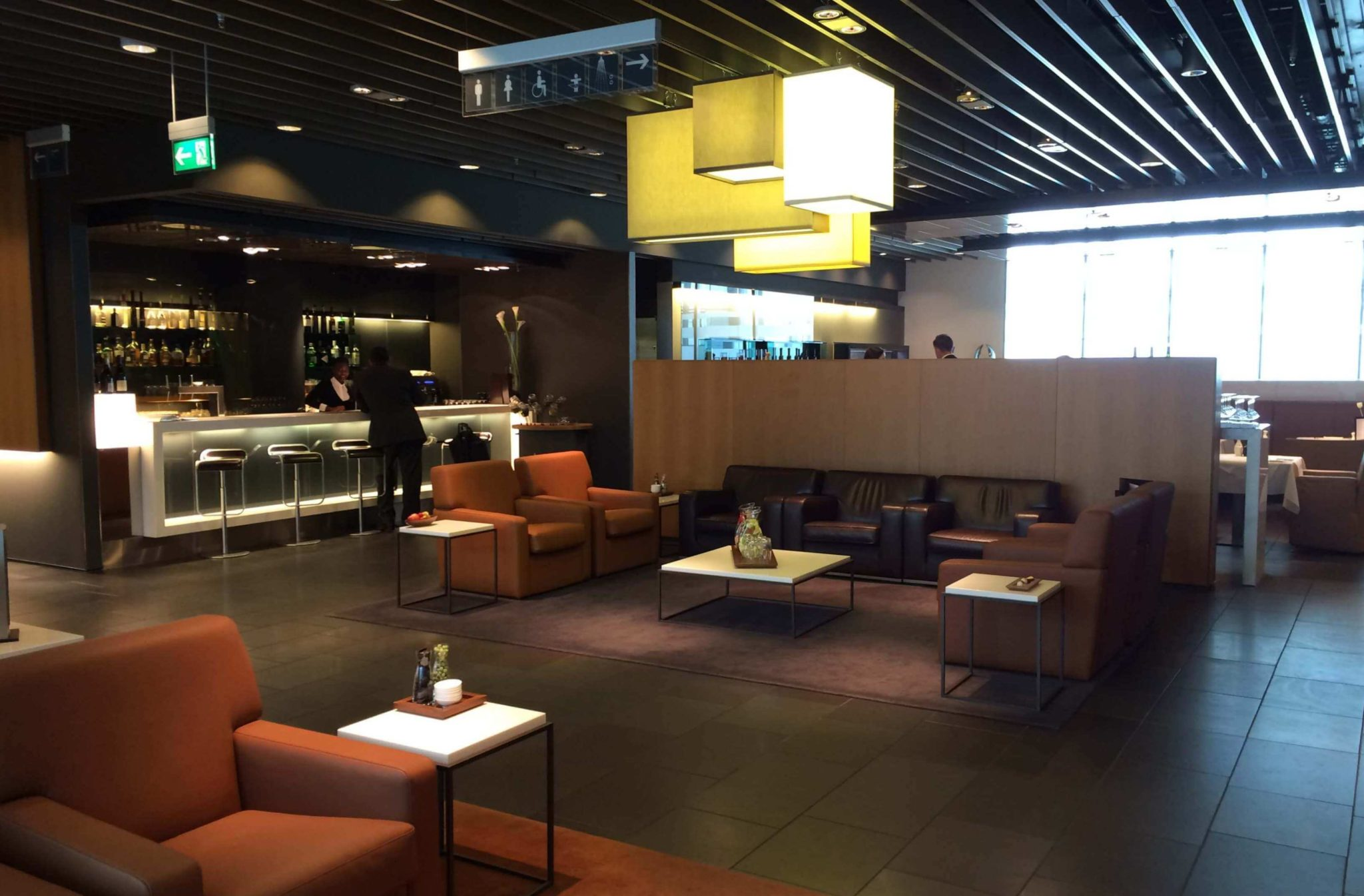 Lufthansa first class lounge, Munich
