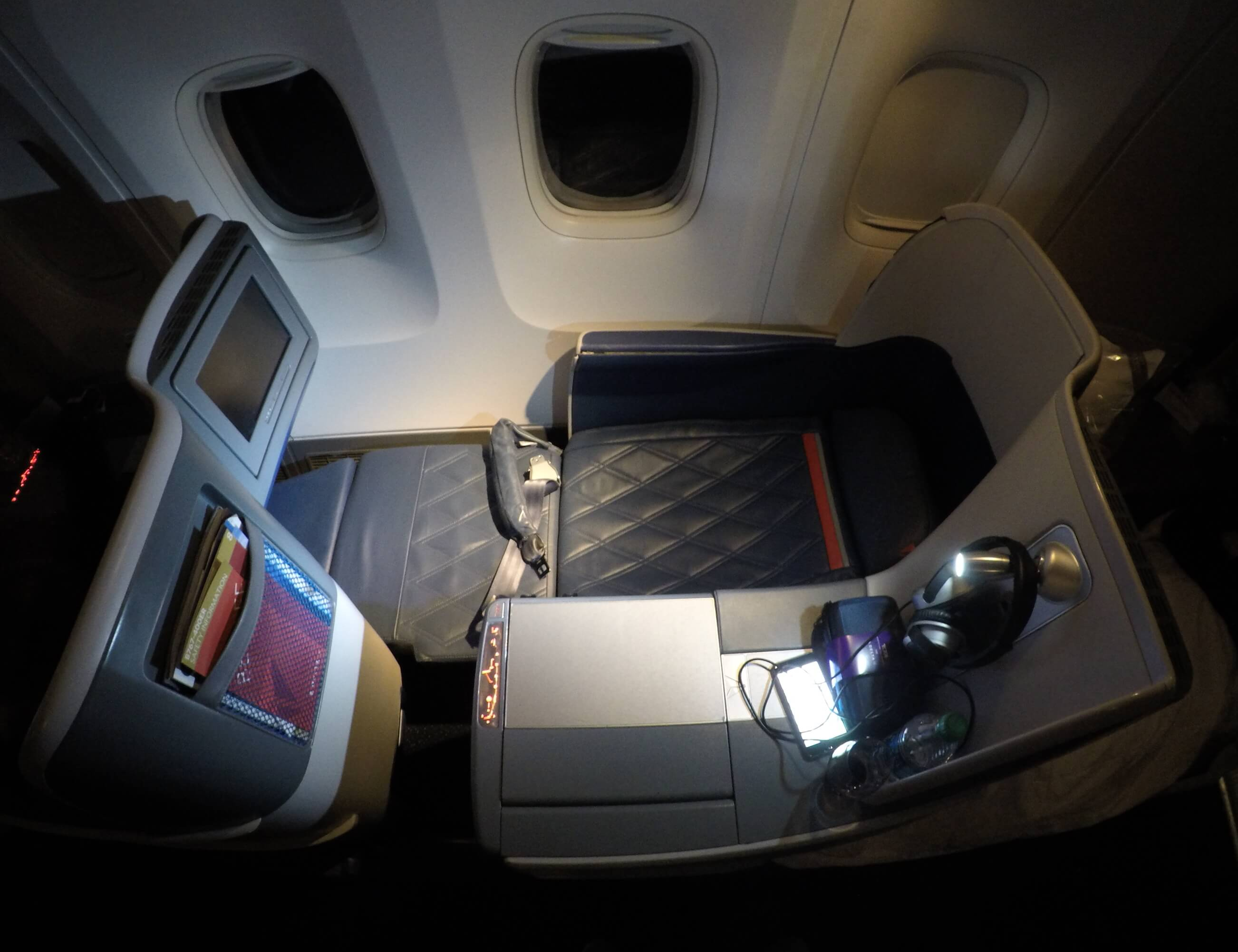 Asiento Delta ONE business class B767
