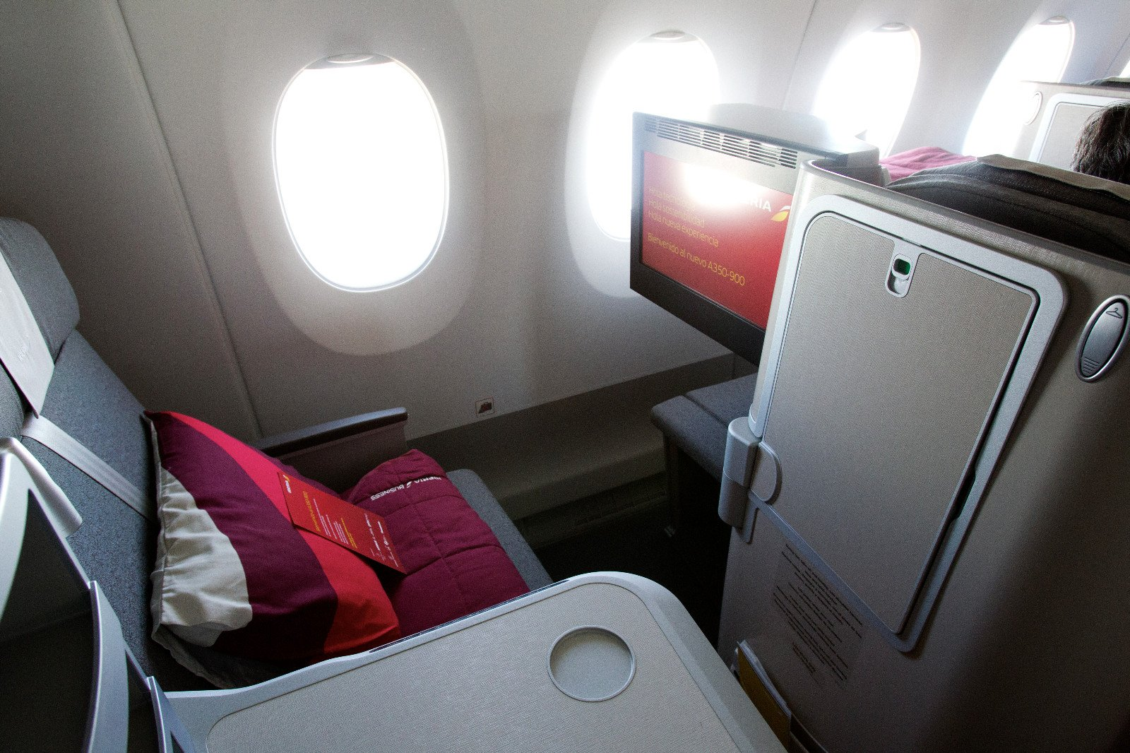 Asiento Business Class Airbus 350 de Iberia