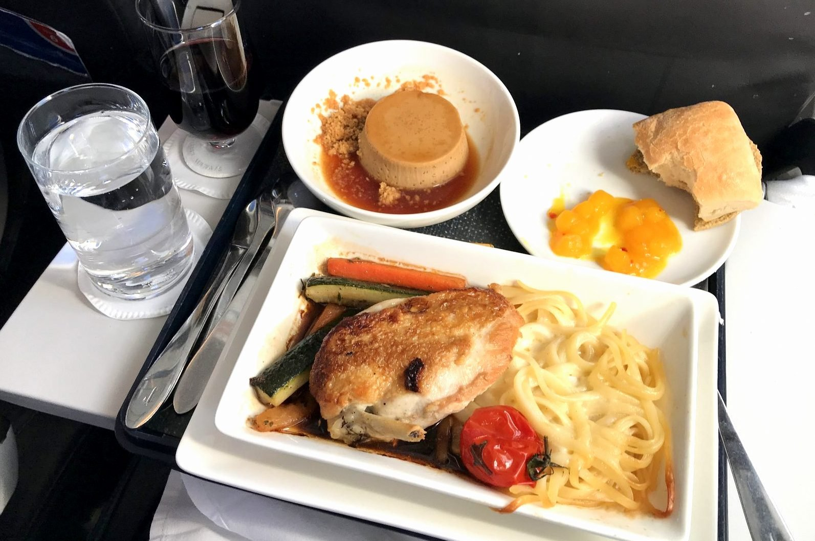 comida business class regional British Airways