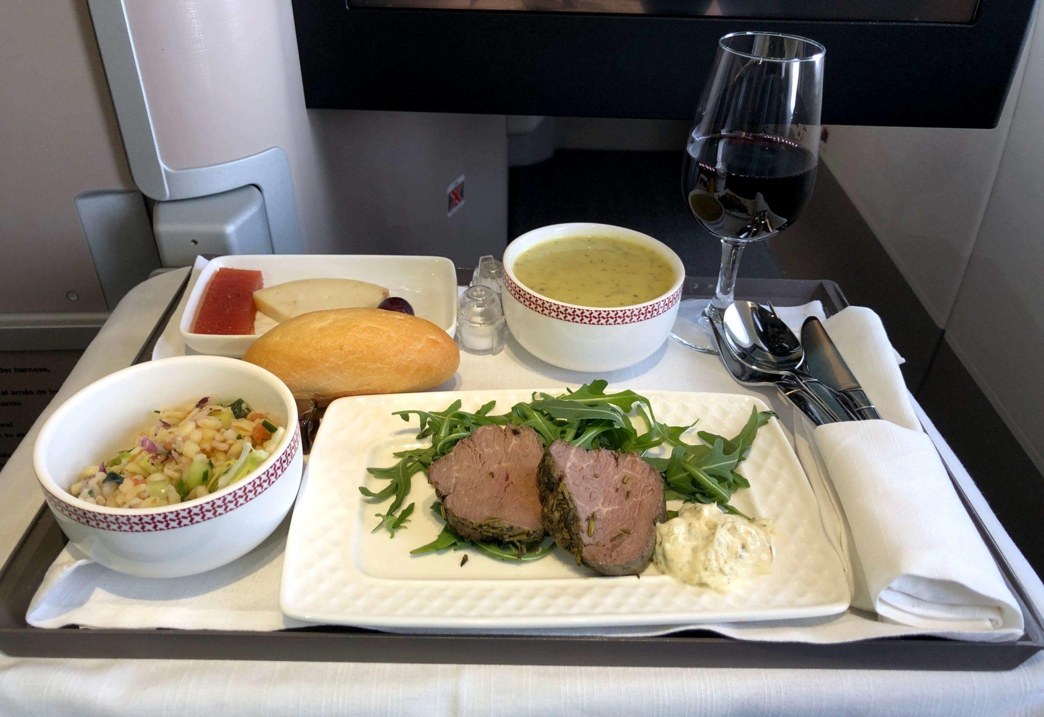 Bandeja de entrantes Iberia Business Class MAD-JFK